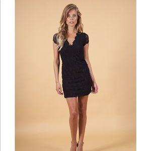 Nightcap Black Short Sleeve Dress